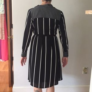 Who What Wear Dresses - Black white striped dress w belt. Small. Perfect
